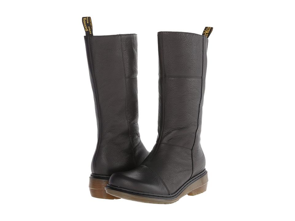 Dr. Martens - Charla Tall Zip Boot (Black Broadway) Women's Zip Boots