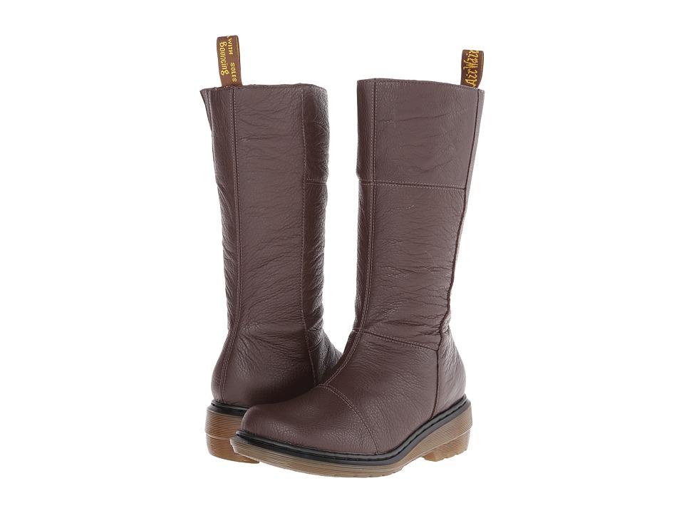 Dr. Martens - Charla Tall Zip Boot (Brown Broadway) Women