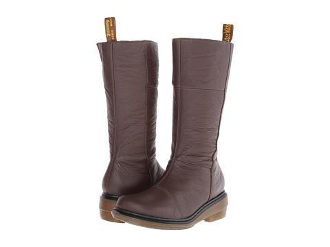 Dr. Martens - Charla Tall Zip Boot (Brown Broadway) Women's Zip Boots