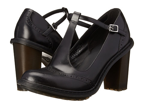 Dr. Martens - Karishma Brogue T-Bar (Black Buttero) High Heels