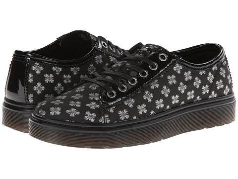 Dr. Martens Amp Lace To Toe Shoe (Black 60's Geo Brocade/Patent Leather) Women's Lace up casual Shoes