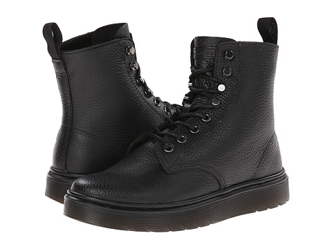 Dr. Martens - Disc 8-Tie Boot (Black Montreal Lux) Women's Lace-up Boots