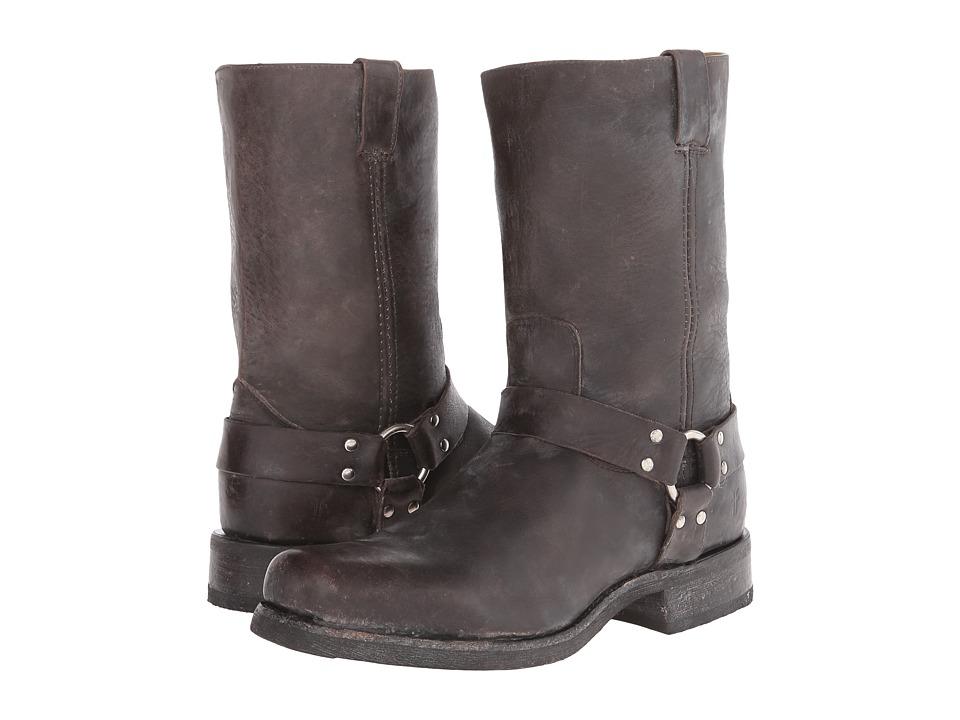 Frye - Heath Harness (Black Stone Tumbled) Cowboy Boots