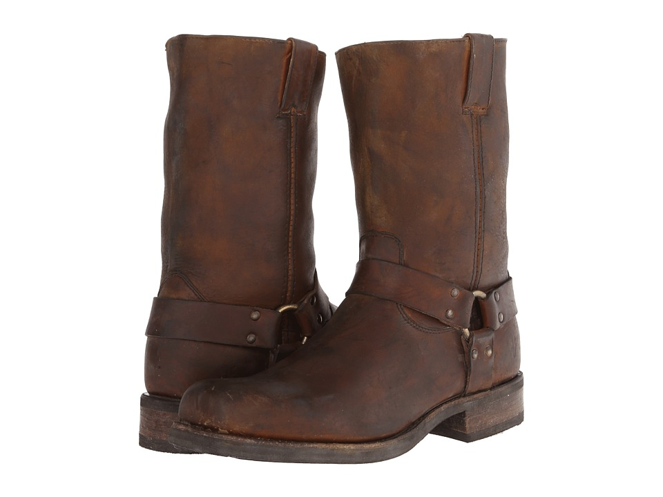 Frye - Heath Harness (Whiskey Stone Tumbled) Cowboy Boots