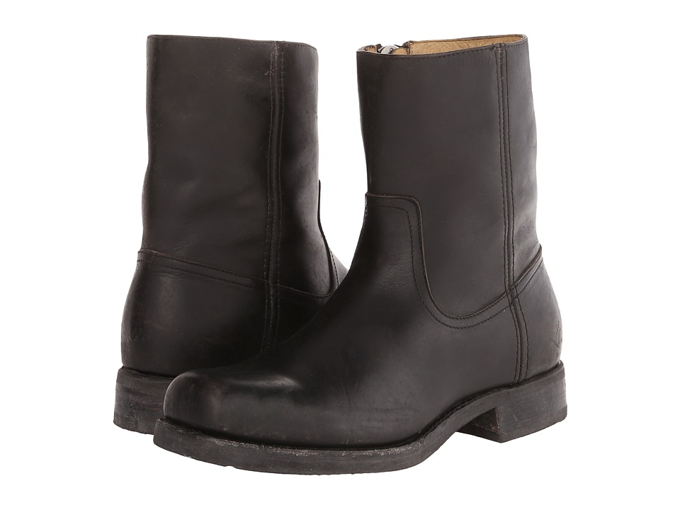 Frye - Heath Inside Zip (Black Stone Tumbled) Men