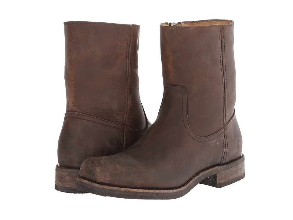 Frye - Heath Inside Zip (Dark Brown Stone Tumbled) Men