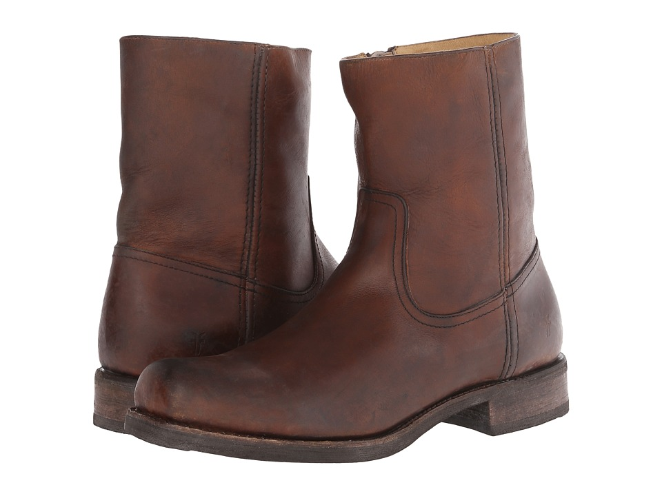 Frye - Heath Inside Zip (Whiskey Stone Tumbled) Men