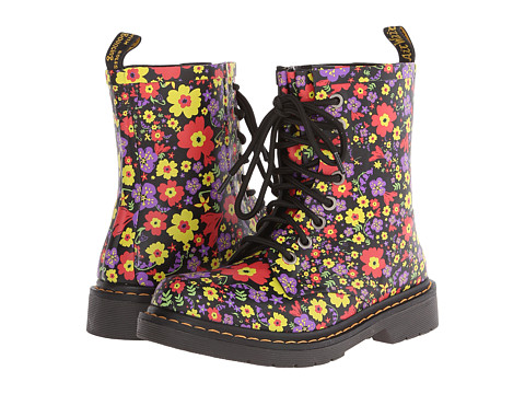 Dr. Martens - Drench 8-Eye Boot (Black Vintage Garden Vulcanized Rubber) Women's Lace-up Boots