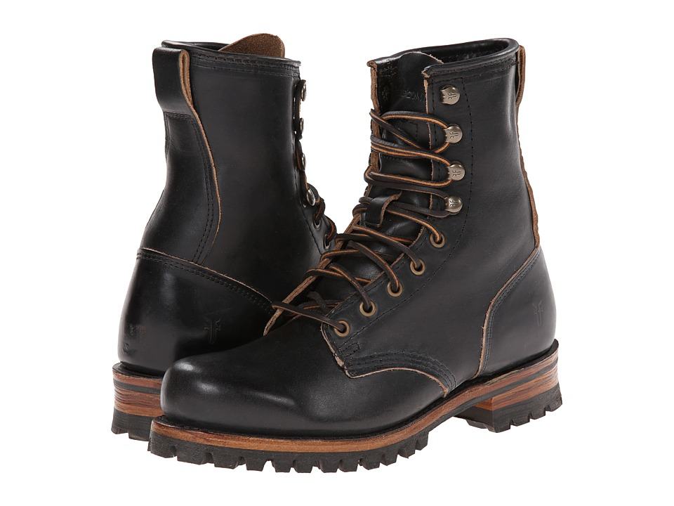 Frye - Logger (Black Smooth Full Grain) Men's Lace-up Boots