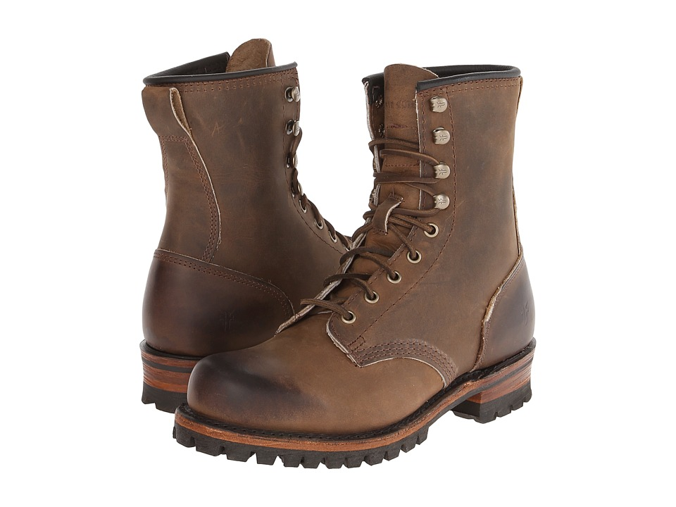 Frye - Logger (Tan Oiled Leather) Men's Lace-up Boots