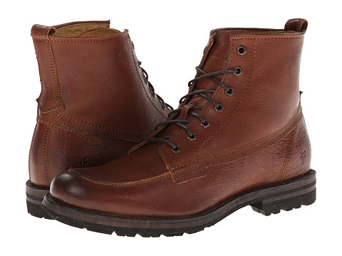 Frye - Phillip Lug Workboot (Copper Hammered Full Grain) Men's Work Lace-up Boots