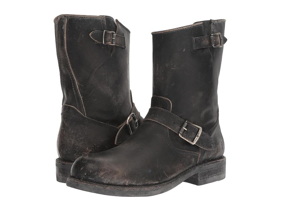 Frye - Sutton Engineer (Black Stonewash) Cowboy Boots