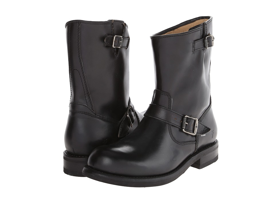 Frye - Sutton Engineer (Black Antique Full Grain) Cowboy Boots