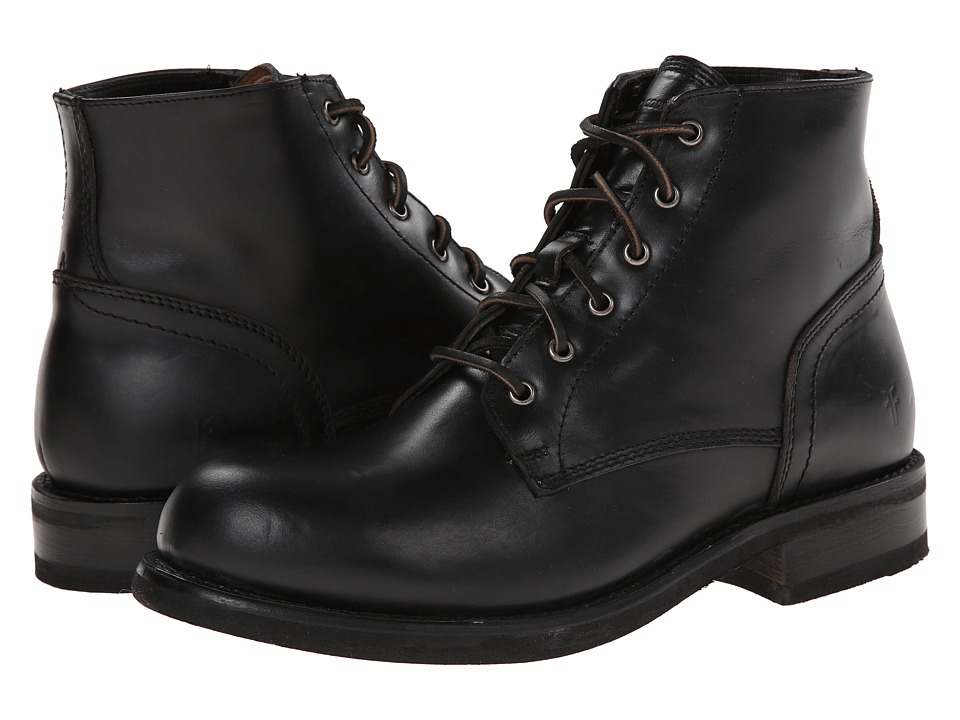 Frye Sutton Midlace (Black Antique Full Grain) Men
