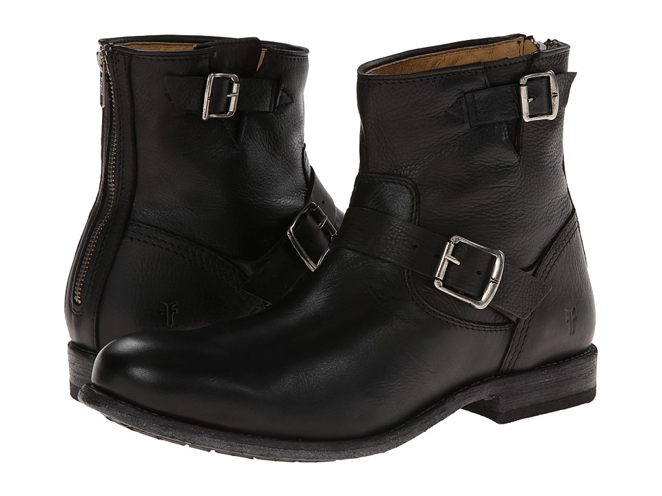 Frye - Tyler Engineer (Black/Soft Vintage Leather) Cowboy Boots