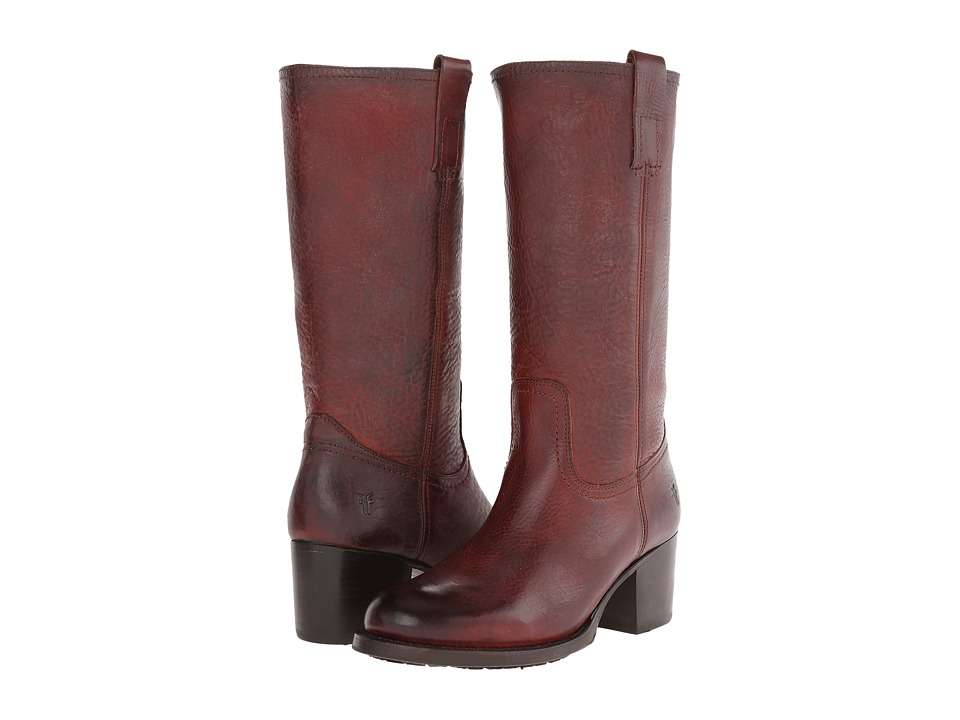 Frye Autumn Pull On (Redwood Antique Pull Up) Cowboy Boots