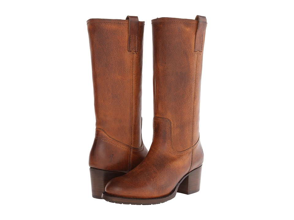 Frye Autumn Pull On (Tan Antique Pull Up) Cowboy Boots