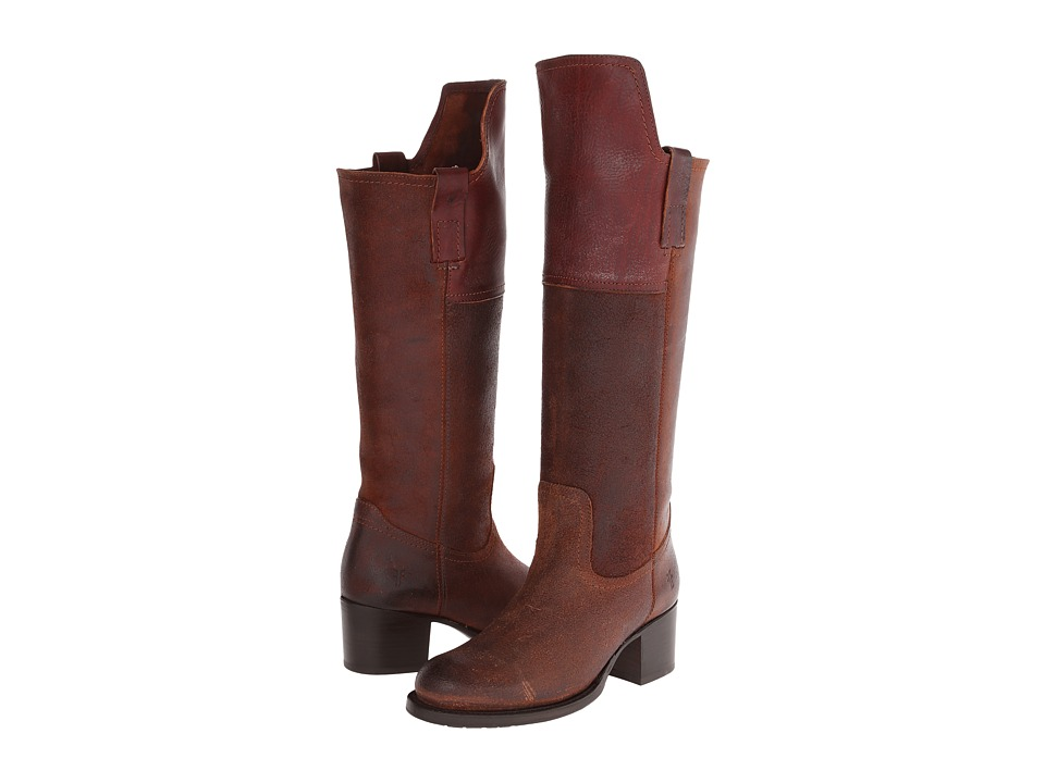 Frye Autumn Shield Tall (Redwood Oiled Suede) Cowboy Boots