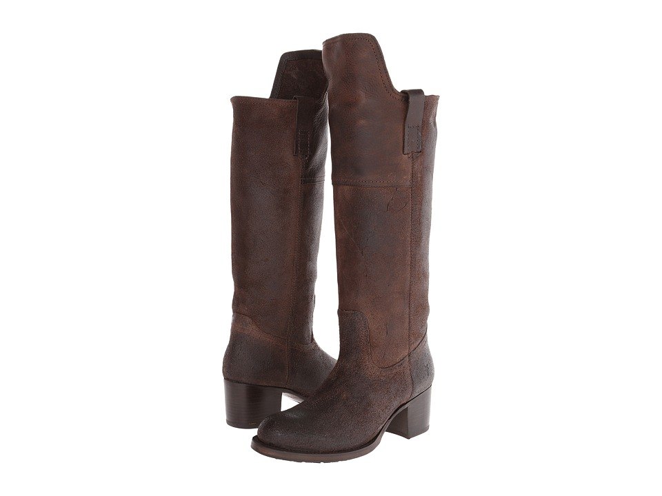 Frye Autumn Shield Tall Dark Brown Oiled Suede Cowboy Boots