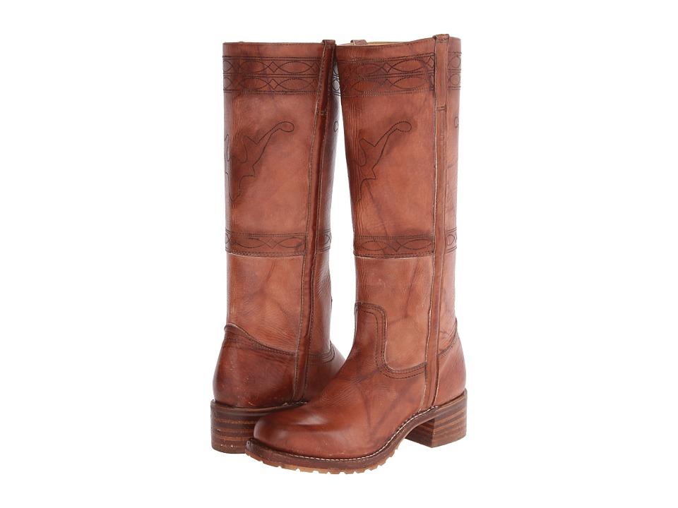 Frye Campus Stitching Horse (Saddle Montana Stone Wash) Cowboy Boots
