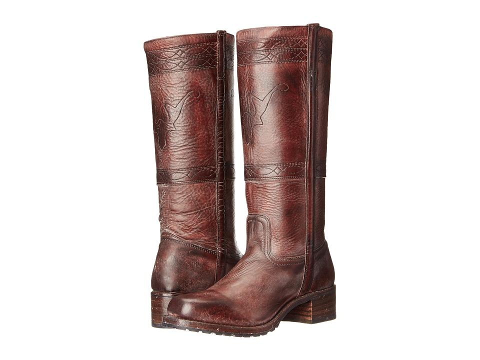 Frye Campus Stitching Horse (Walnut Montana Stone Wash) Cowboy Boots