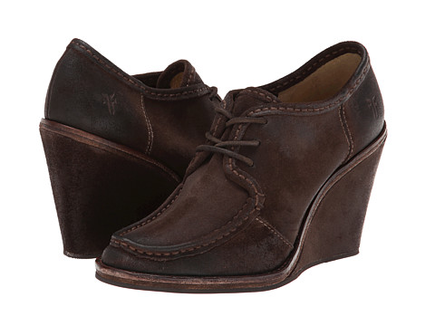 Frye - Caroline Lace Up (Charcoal Oiled Suede) Women