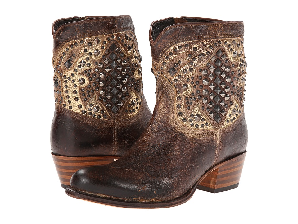 Frye Deborah Deco Short (Whiskey Glazed Vintage Leather) Cowboy Boots