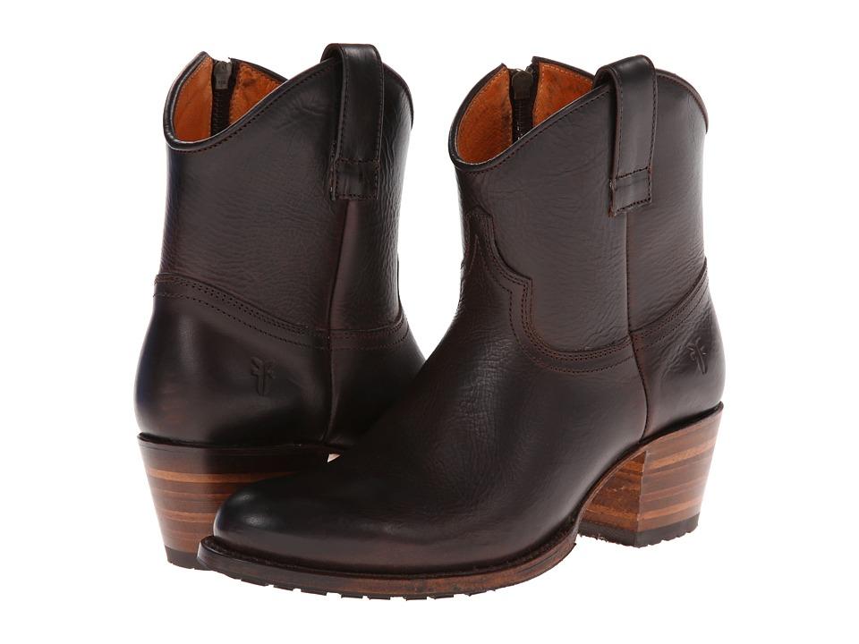 Frye - Deborah Lug Short (Espresso Antique Pull Up) Cowboy Boots