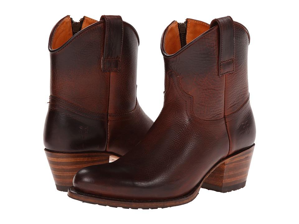 Frye - Deborah Lug Short (Redwood Antique Pull Up) Cowboy Boots