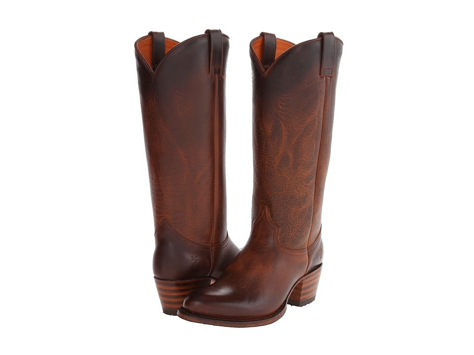 Frye - Deborah Lug Tall (Camel Antique Pull Up) Cowboy Boots