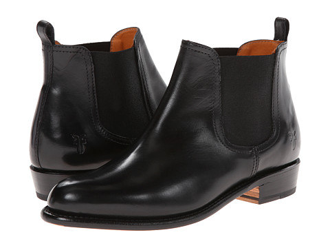 Frye - Dorado Chelsea (Black Smooth Polished Veg) Cowboy Boots