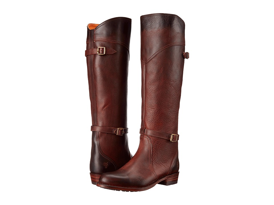Frye - Dorado Lug Riding (Redwood Antique Pull Up) Women's Pull-on Boots