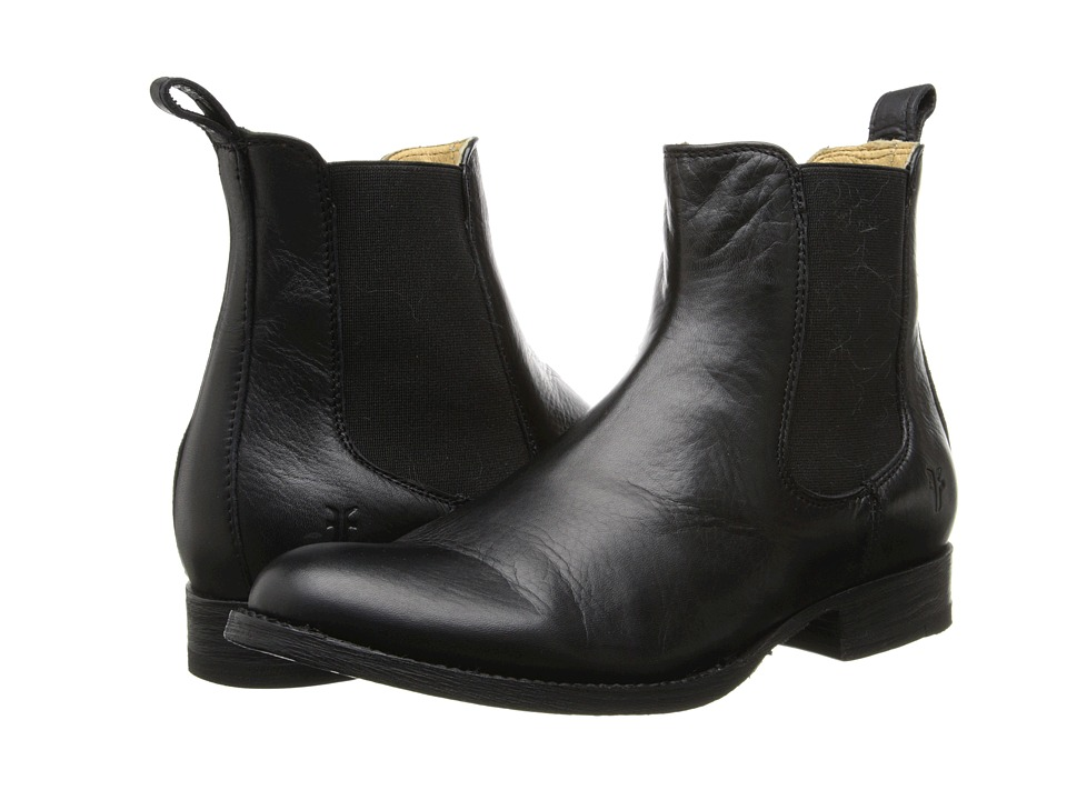 Frye - Erin Chelsea (Black Soft Vintage Leather) Women's Pull-on Boots