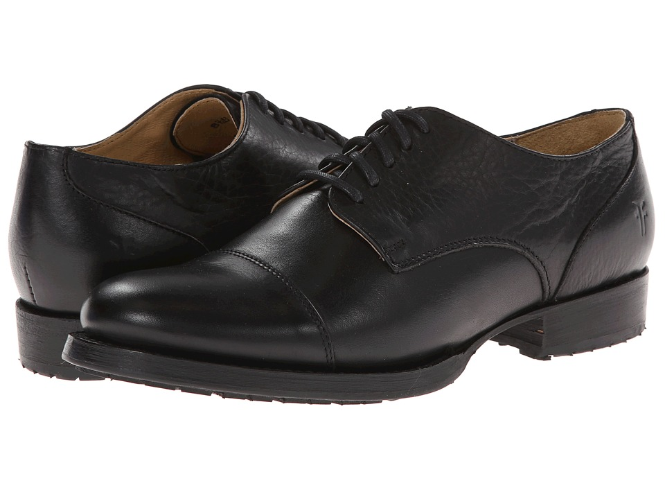 Frye - Erin Lug Oxford (Black Soft Vintage Leather) Women's Lace up casual Shoes