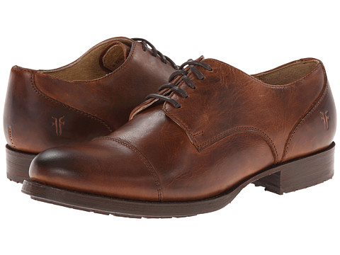 Frye - Erin Lug Oxford (Cognac Antque Pull Up) Women's Lace up casual Shoes