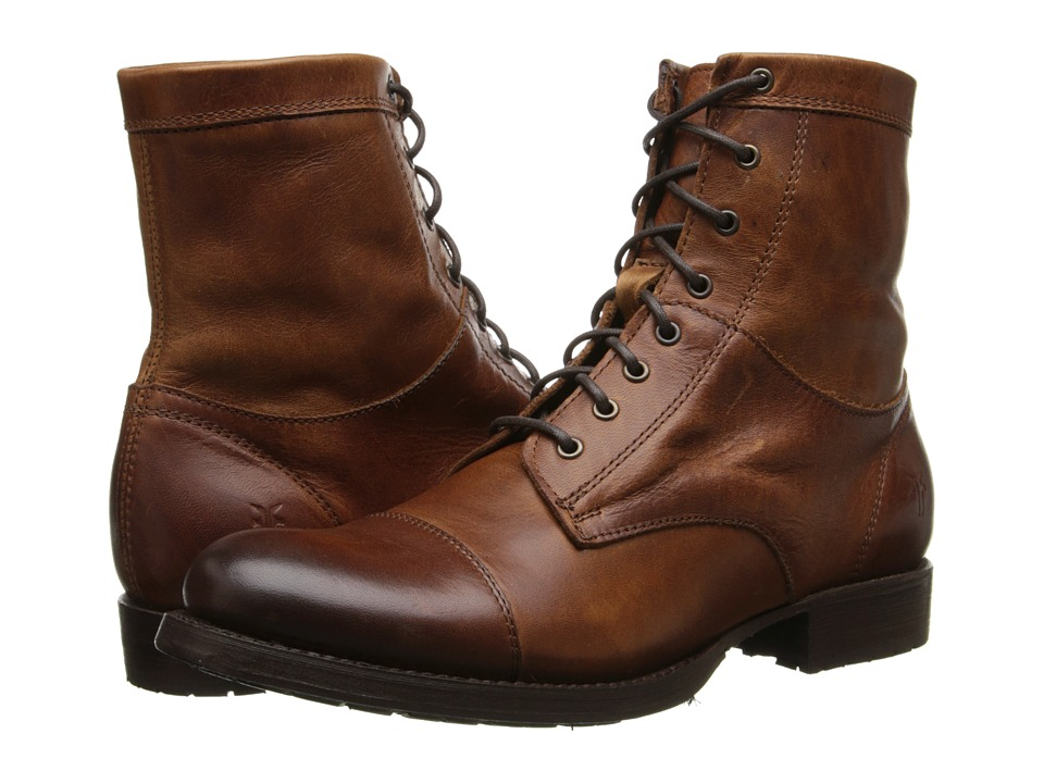 Frye Erin Lug Work Boot (Cognac Antique Pull Up) Cowboy Boots