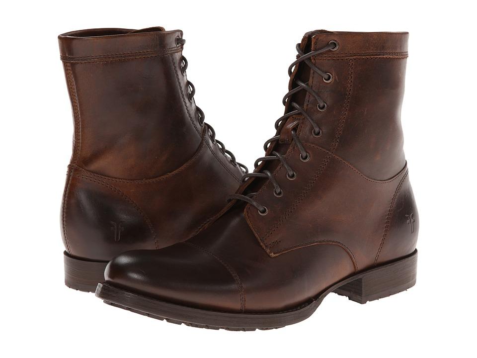 Frye - Erin Lug Work Boot (Dark Brown Antique Pull Up) Cowboy Boots