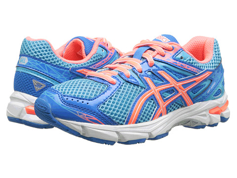 ASICS Kids - GT-1000 3 GS (Little Kid/Big Kid) (Turquoise/Hot Coral/Blue) Girls Shoes