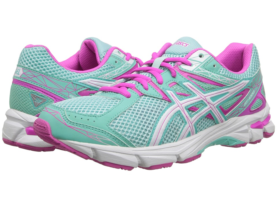 ASICS Kids - GT-1000tm 3 GS (Little Kid/Big Kid) (Mint/White/Hot Pink) Girls Shoes