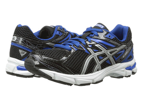 ASICS Kids - GT-1000 3 GS (Little Kid/Big Kid) (Black/Lightning/Royal) Boys Shoes