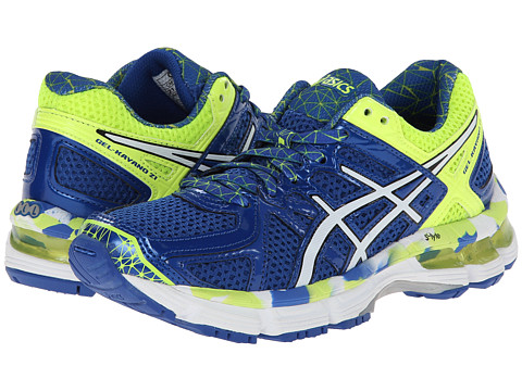 ASICS Kids - Gel-Kayano 21 GS (Little Kid/Big Kid) (Royal/White/Flash Yellow) Boys Shoes