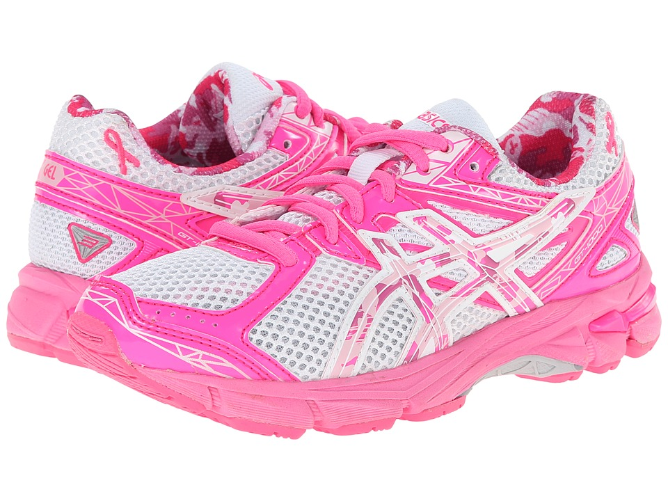 ASICS Kids - GT-1000 3 GS PR (Little Kid/Big Kid) (White/Hot Pink/Pink Ribbon) Girls Shoes