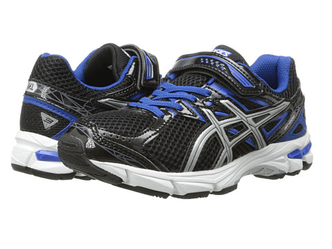ASICS Kids - GT-1000 3 PS (Toddler/Little Kid) (Black/Lightning/Royal) Boys Shoes