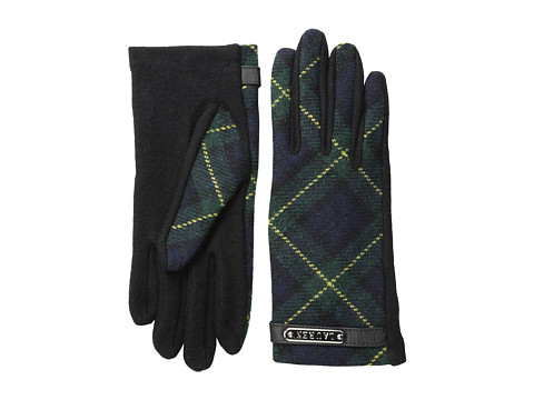 LAUREN by Ralph Lauren - Tartan Logo Plaque Glove (Blackwatch) Dress Gloves