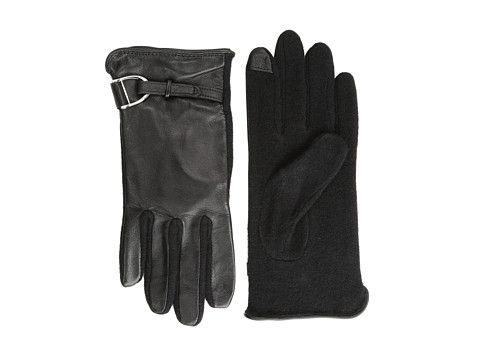 LAUREN by Ralph Lauren - D-Ring Hybrid Touch Glove (Black/Black) Dress Gloves