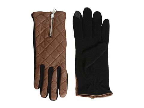 LAUREN by Ralph Lauren - Quilted Hybrid Touch Glove (Cuoio/Black) Dress Gloves