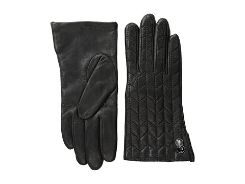 LAUREN by Ralph Lauren - Chevron Quilted Glove (Black) Dress Gloves