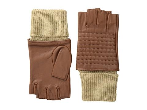 LAUREN by Ralph Lauren - Channel Quilted Biker Glove (Cuoio) Dress Gloves