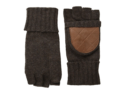 LAUREN by Ralph Lauren - Quilted Nappa Glove Mitt (Dark Brown Heather) Dress Gloves