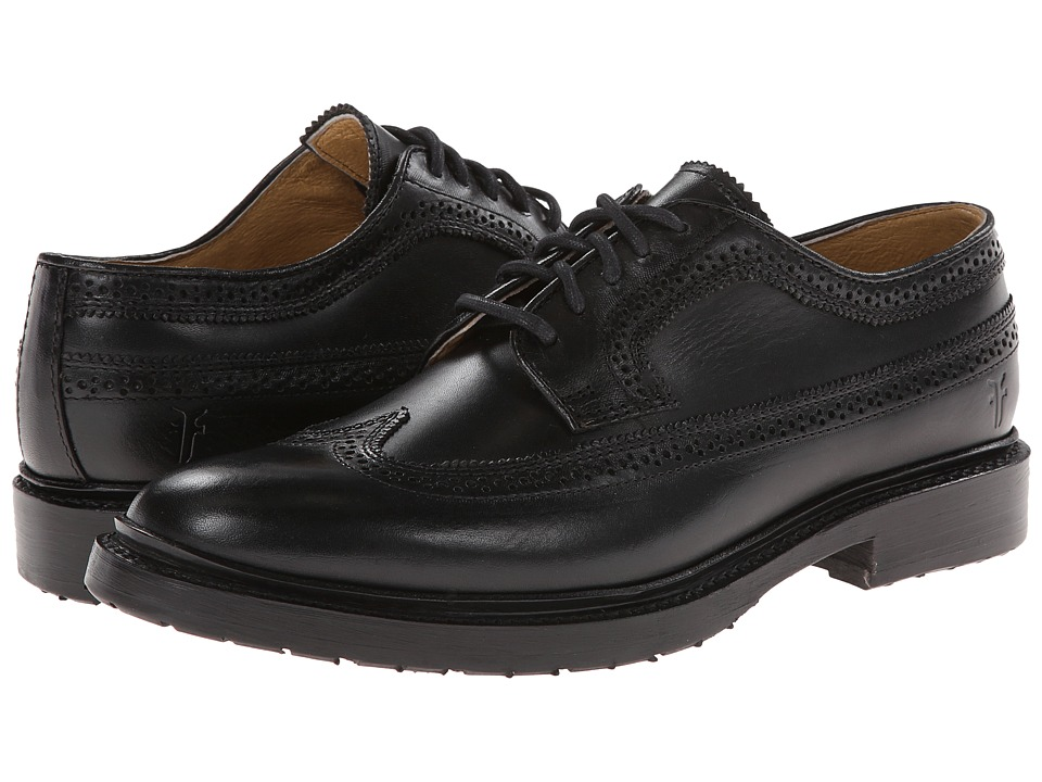 Frye - James Lug Wingtip (Black Smooth Full Grain) Women's Lace up casual Shoes